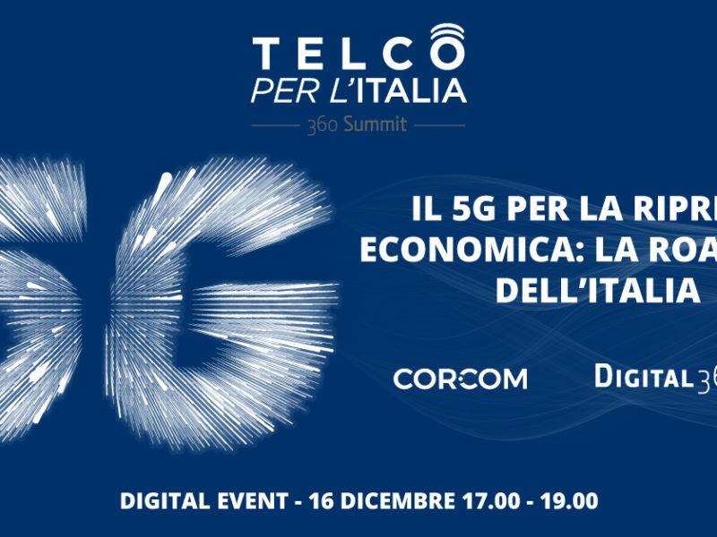Telco per l'Italia: 5G per la ripresa dell'Italia al via l'evento di DIGITAL360
